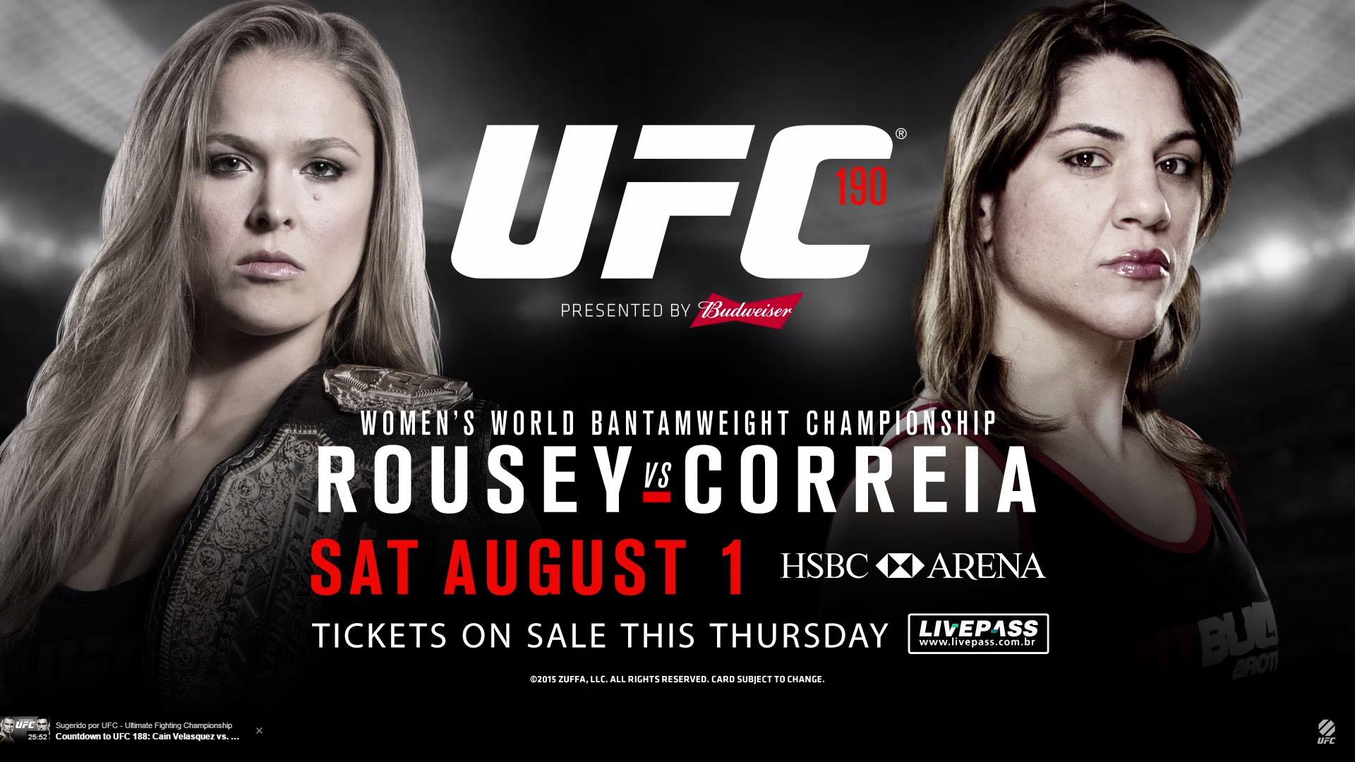 Ronda Rousey beats Bethe Correia