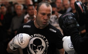 SAN JOSE, CA - NOVEMBER 16: Wanderlei Silva works out for the fans and media during the UFC 139 open workouts at the Heroes Martial Arts Gym on November 16, 2011 in San Jose, California. (Photo by Josh Hedges/Zuffa LLC/Zuffa LLC via Getty Images)