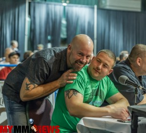Bob surprises me while commentating at WCC 15, December 5, 2015.