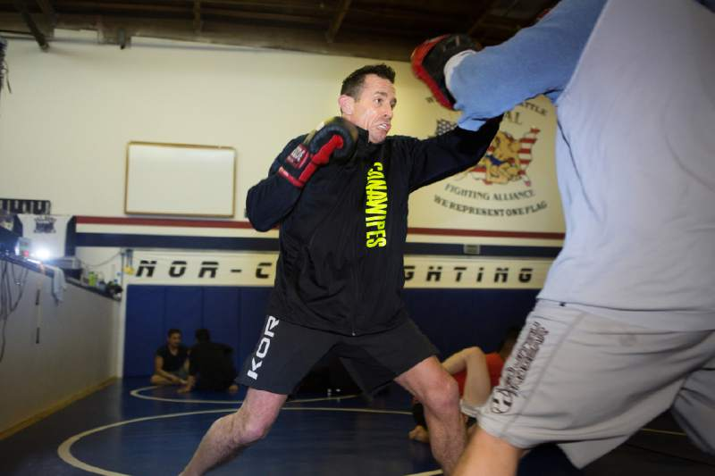 Matt Bernd, 45, a chiropractor, trains at NorCal Fighting Alliance. Photo by Charlie Gesell.