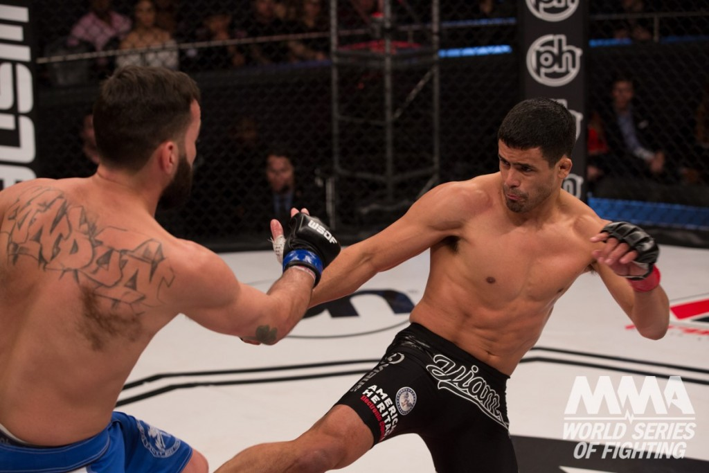 Johnny Nunez (right) will be back in action, facing David Jordan in a lightweight contest, on the WSOF26 preliminary bout card on Friday, Dec. 18. Photo credit: Lucas Noonan/World Series of Fighting.