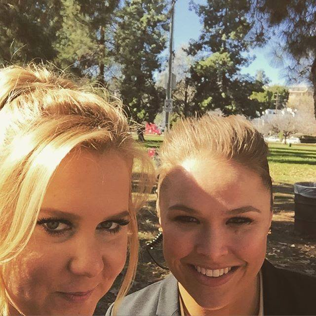 Amy Schumer and Ronda Rousey