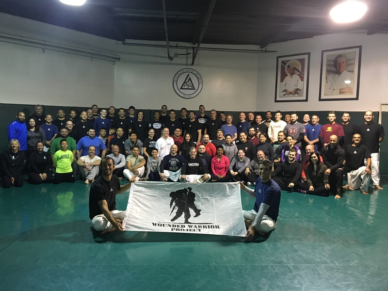 More than 70 wounded veterans and guests learned mixed martial arts at the Gracie Academy in Torrance California (PRNewsFoto/Wounded Warrior Project)