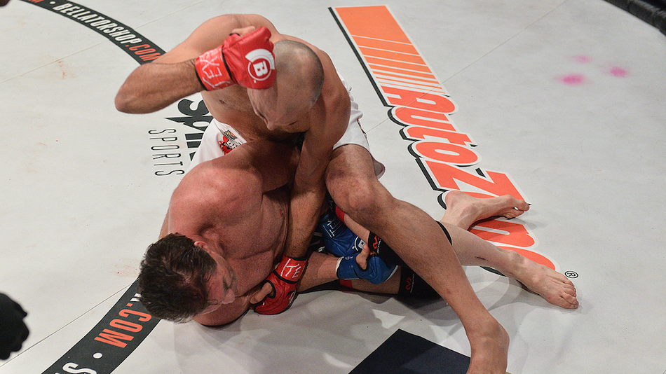 Royce Gracie TKO's Ken Shamrock at Bellator 149