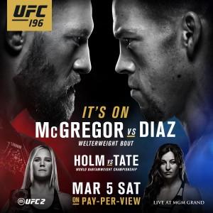 Nate Diaz vs Conor McGregor at UFC 196