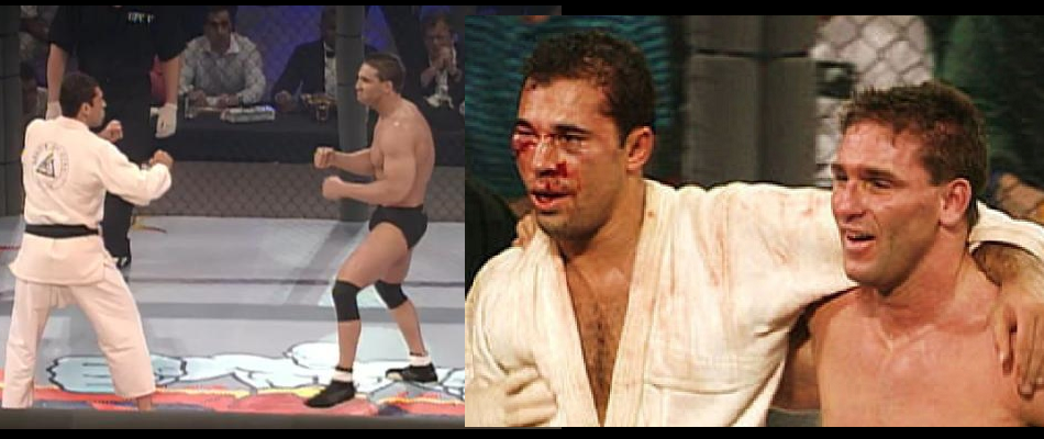 Royce Gracie and Ken Shamrock