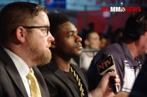 Aljamain Sterling and Eric Dehm