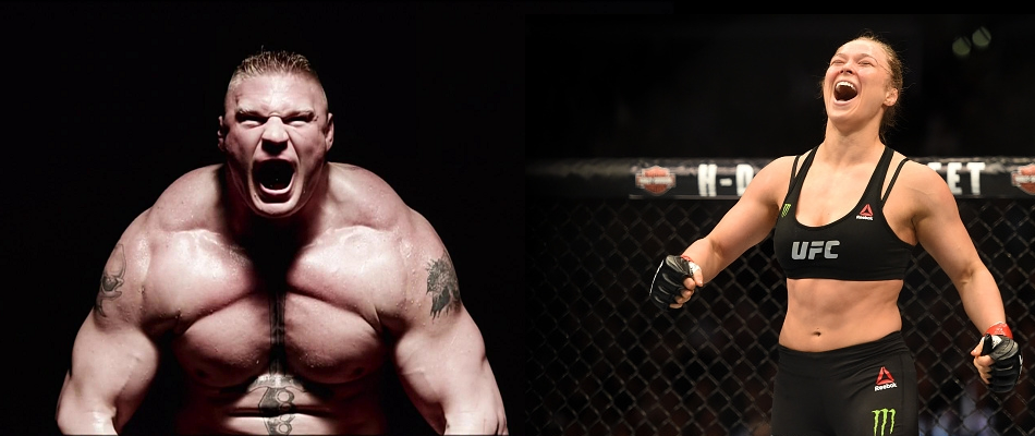 Brock Lesnar and Ronda Rousey