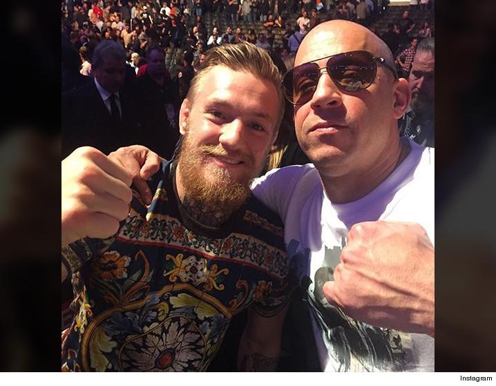 Conor McGregor and Vin Diesel