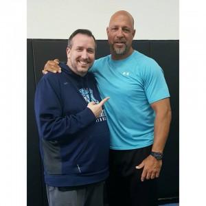 Tom Kilkenny (left) and 'Big' Dan Miragliotta