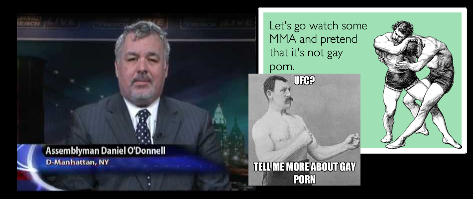 Assemblyman Daniel O'Donnell compares MMA to Gay Porn