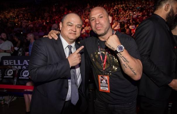 Bellator President Scott Coker and Wanderlei Silva (Credit: Bellator/Lucas Noonan)