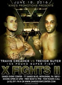 Travis Creamer fights Trevor Suter at X Fight II