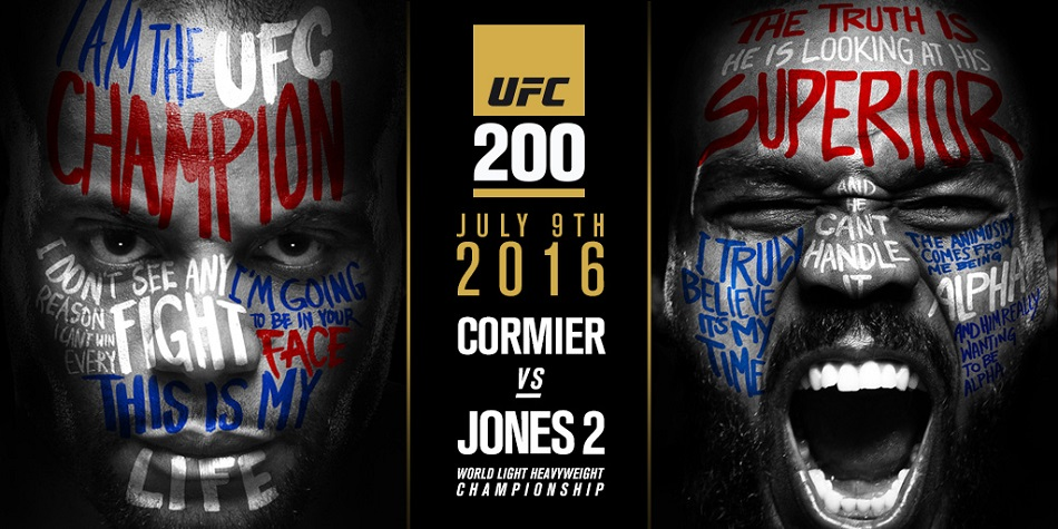 Cormier vs Jones 2 at UFC 200