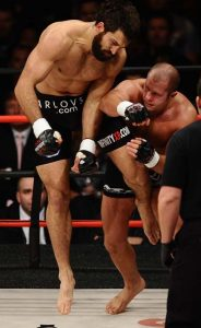 (in short blk tnks) Fedor Emelianenko takes on Andrei Arlovski during the Affliction M-1 Day of Reckoning. Andrei Arlovski TKO Andrei Arlovski in the middle of the 1st round to take the heavyweight title at the Honda Center in Anaheim Ca. Jan 24,2009. Photo by Gene Blevins/HoganPhotos