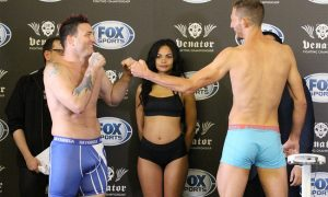 Jason Mayhem Miller weighed in at 209 pounds for Venator FC 3