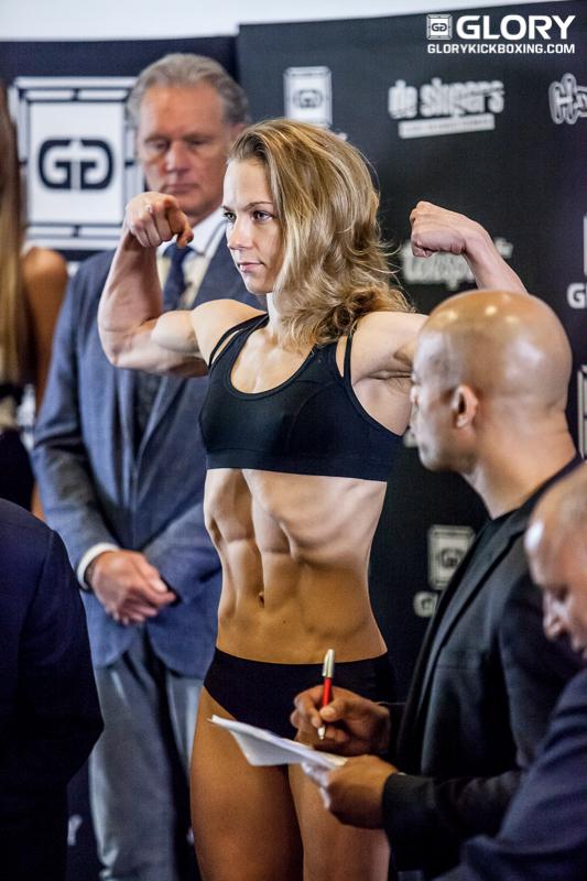 Irina Mazepa - GLORY 310 SuperFight Series weigh-in photo